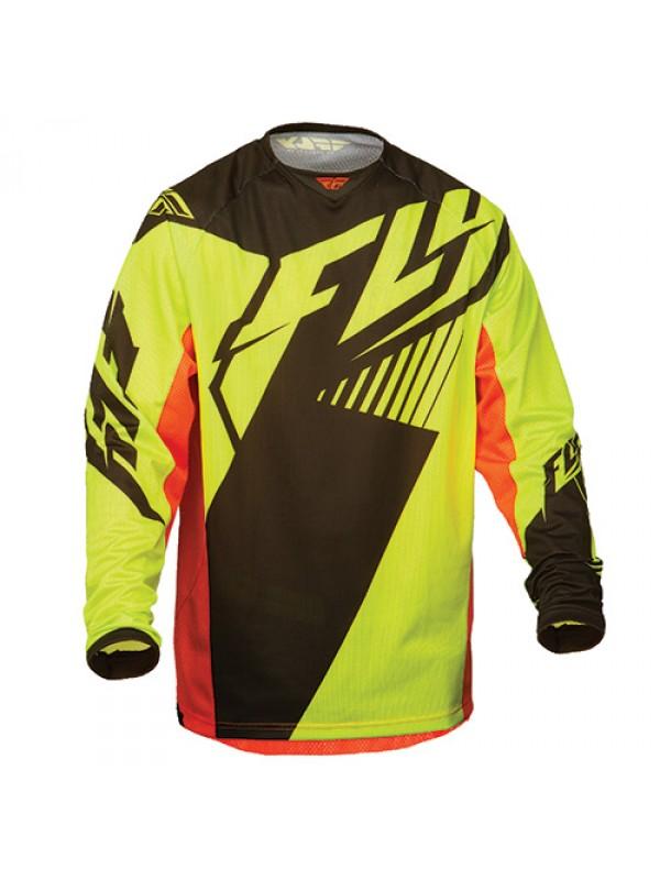 Джерси FLY Racing Kinetic Mesh Vector жёлтая/черная/оранжевая