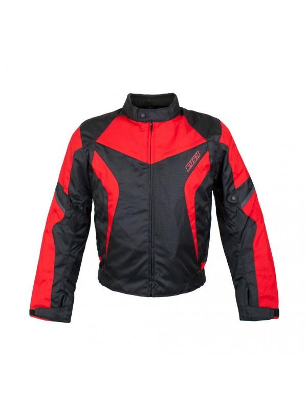 Куртка RUSH Commuter текстиль черная/красная XL